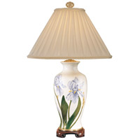 Wildwood Lamps Blue And Yellow Iris Table Lamp in Hand Painted On Crackle Porcelain 5815
