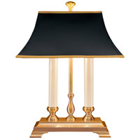 Wildwood Lamps Twin Candle Desk Table Lamp in Antiqued Solid Brass 583