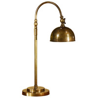 Wildwood Lamps Old Brass Desk Table Lamp in Deep Antique Patina 5830