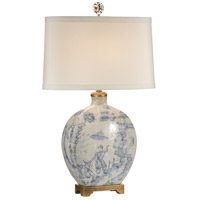 Wildwood Lamps Ancient Snuff Bottle Table Lamp in Hand Painted Porcelain 60023