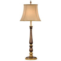 Wildwood Lamps Wood Stick Table Lamp in Antique Cream Accents 60053
