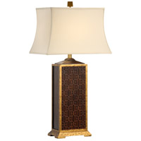 Wildwood Lamps Maze Carving Table Lamp in Old Antique Gold Finish 60063