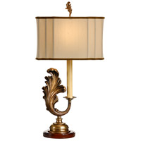 Wildwood Lamps Seraph Left Table Lamp in Metal Leaf And Wood Finishes 60069