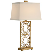 Wildwood Lamps Captured Curleycues Table Lamp in Aged Gold Leaf 60204 photo thumbnail