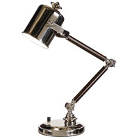 Wildwood Lamps Adjustable Cylinder Table Lamp in Solid Brass With Polished Nickel Plate 60229