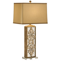 Mirrored 35 inch 100 watt Hand Decorated Table Lamp Portable Light