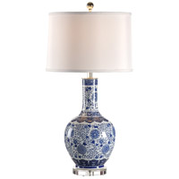 Wildwood Lamps Miscellaneous 1 Light Blue With Water Jar Lamp Hand Decorated Table Lamp in Porcelain 60296