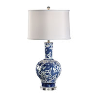Wildwood Lamps Signature 1 Light Dragon Table Lamp in Blue and White 60307