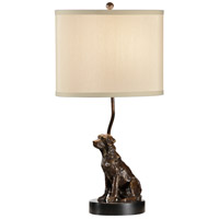 Wildwood 60315 Dog 23 inch 100 watt Solid Brass With Bronze Table Lamp Portable Light