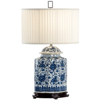 Aniko 29 inch 100 watt Hand Decorated Blue/White Table Lamp Portable Light