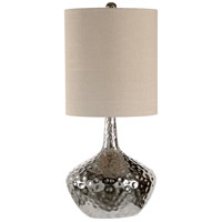 Kathleen 35 inch 100 watt Polished Nickel Table Lamp Portable Light