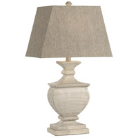 Lorenzo 29 inch 100 watt Gray/White Antique Table Lamp Portable Light