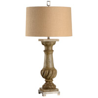 Balustrade 41 inch 100 watt Brushed Nickel Mounting Table Lamp Portable Light