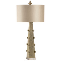 Wildwood 60373 Cathedral Spire 36 inch 100 watt Brushed Nickel Base Table Lamp Portable Light photo thumbnail