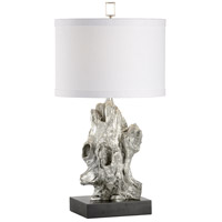 Bayou 31 inch 100 watt Aged Silver Leaf Table Lamp Portable Light