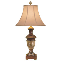 Wildwood Lamps Decapeada Table Lamp in Hand Decorated Carving 6042