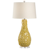 60487 Wildwood Wildwood 34 inch 100 watt Golden Rod Yellow Glaze Table Lamp Portable Light
