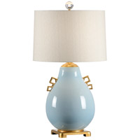 Wildwood 34 inch 100 watt Powder Blue Glaze Table Lamp Portable Light