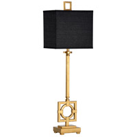60547 Wildwood Wildwood 36 inch 100 watt Antique Gold Leaf Table Lamp Portable Light