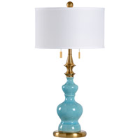 Dana 31 inch 60 watt Ceramic and Brass Table Lamp Portable Light