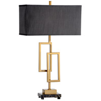 Wildwood 60555 Winslete 33 inch 100 watt Iron and Marble Table Lamp Portable Light