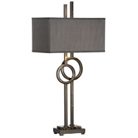 Tootsie 38 inch 60 watt Iron and Marble Table Lamp Portable Light