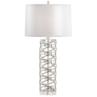 Dazzling 33 inch 100 watt Antique Silver Leaf Table Lamp Portable Light