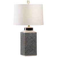 Wildwood 60614 Athenaeum 28 inch 100 watt Black and White Table Lamp Portable Light