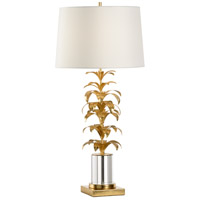 60680 Wildwood Wildwood 37 inch 100 watt Antique Gold Leaf and Clear Table Lamp Portable Light