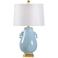 Wildwood 60682 Chino 30 inch 100 watt Powder Blue Glaze Table Lamp Portable Light