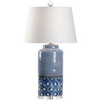 Wildwood 60685 Jolene 34 inch 100 watt Blue and White Glaze Table Lamp Portable Light