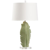 Wildwood 60710 Musa 31 inch 100 watt Green Glaze and Clear Table Lamp Portable Light