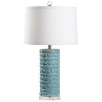 60729 Wildwood Wildwood 30 inch 100 watt Aqua Glaze Table Lamp Portable Light