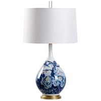Wildwood 60730 Camellia 29 inch 100 watt Blue and White Glaze Table Lamp Portable Light