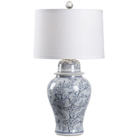 60738 Wildwood Wildwood 34 inch 100 watt Blue and White Glaze Table Lamp Portable Light