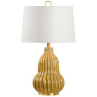 Wildwood 60759 Oliver 29 inch 100 watt Butterscotch Glaze and Anitque Gold Leaf Table Lamp Portable Light