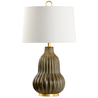 60765 Wildwood Wildwood 30 inch 100 watt Aged Grey Glaze and Antique Gold Table Lamp Portable Light