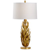 60776 Wildwood Wildwood 34 inch 100 watt Antique Gold Leaf Table Lamp Portable Light