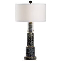 Wildwood 60793 Devin 31 inch 60 watt Natural Grey and Antique Brass Table Lamp Portable Light