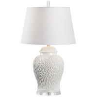 60821 Wildwood Wildwood 31 inch 100 watt White Glaze Table Lamp Portable Light