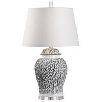 60822 Wildwood Wildwood 31 inch 100 watt Grey and White Glaze Table Lamp Portable Light