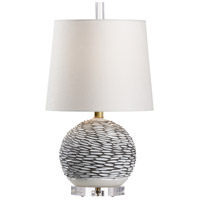 Wildwood 60823 Munch Sphere 22 inch 100 watt Grey and White Glaze Table Lamp Portable Light