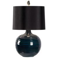 60844-2 Wildwood Wildwood 29 inch 100 watt Blue/Black Glaze Table Lamp Portable Light