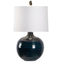 60844 Wildwood Wildwood 29 inch 100 watt Blue/Black Glaze Table Lamp Portable Light