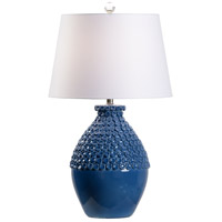 Wildwood 60953 Wildwood 31 inch 100 watt Blue Glaze Table Lamp Portable Light