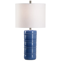 Wildwood 60962 Wildwood 28 inch 100 watt Blue Glaze Table Lamp Portable Light