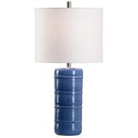 60962 Wildwood Wildwood 28 inch 100 watt Blue Glaze Table Lamp Portable Light