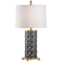 Wildwood 60985 Wildwood 32 inch 100.00 watt Gold/Mercury/Antique Gray Table Lamp Portable Light