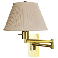 Monroe 100 watt Antique Brass Swing Arm Sconce Wall Light