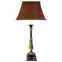 Wildwood Lamps Julios Dream Table Lamp in Green & Yellow Finish 65026